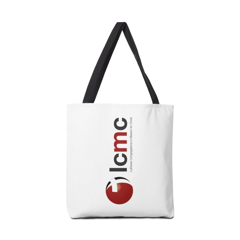 Vertical Logo Collection Accessories Tote Bag Bag by LCMC Store