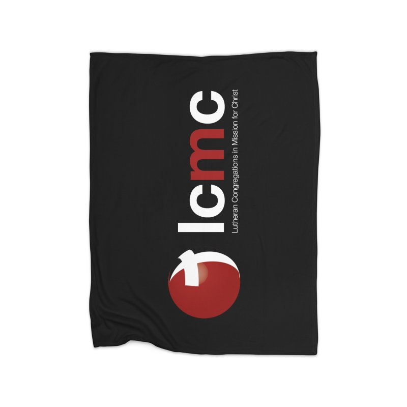 Vertical Logo Collection (White on Black) Home Blanket by LCMC Store