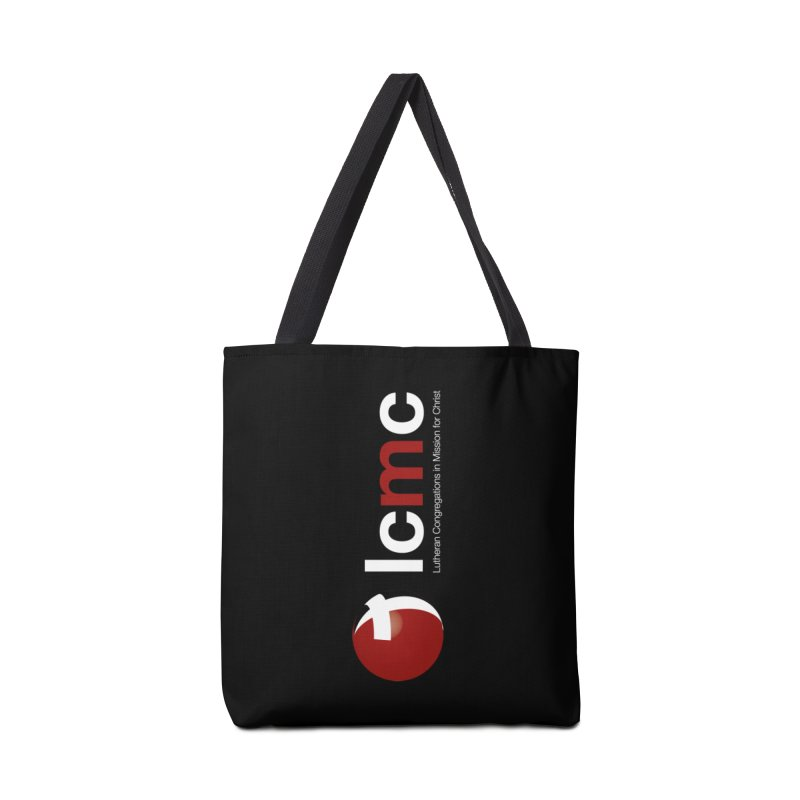 Vertical Logo Collection (White on Black) Accessories Tote Bag Bag by LCMC Store