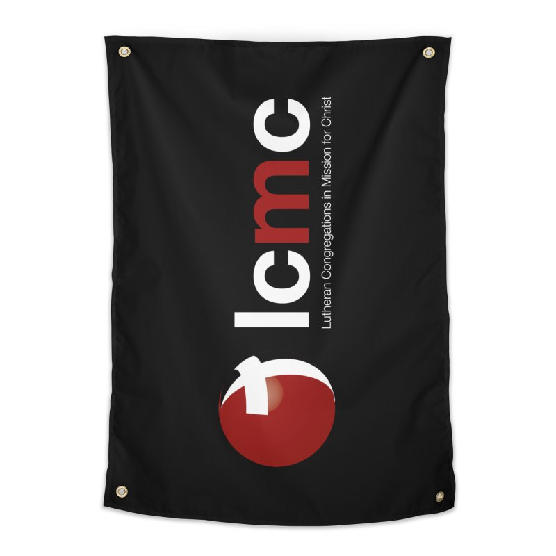 Vertical Logo Collection (White on Black) Home Tapestry by LCMC Store