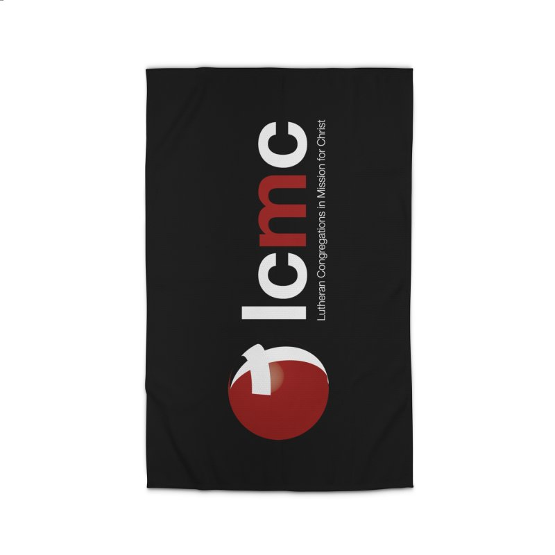 Vertical Logo Collection (White on Black) Home Rug by LCMC Store
