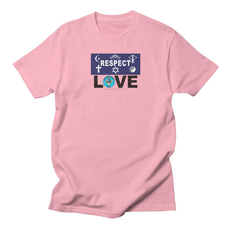 Respect And Love Men's T-Shirt by Leading Artist Shop