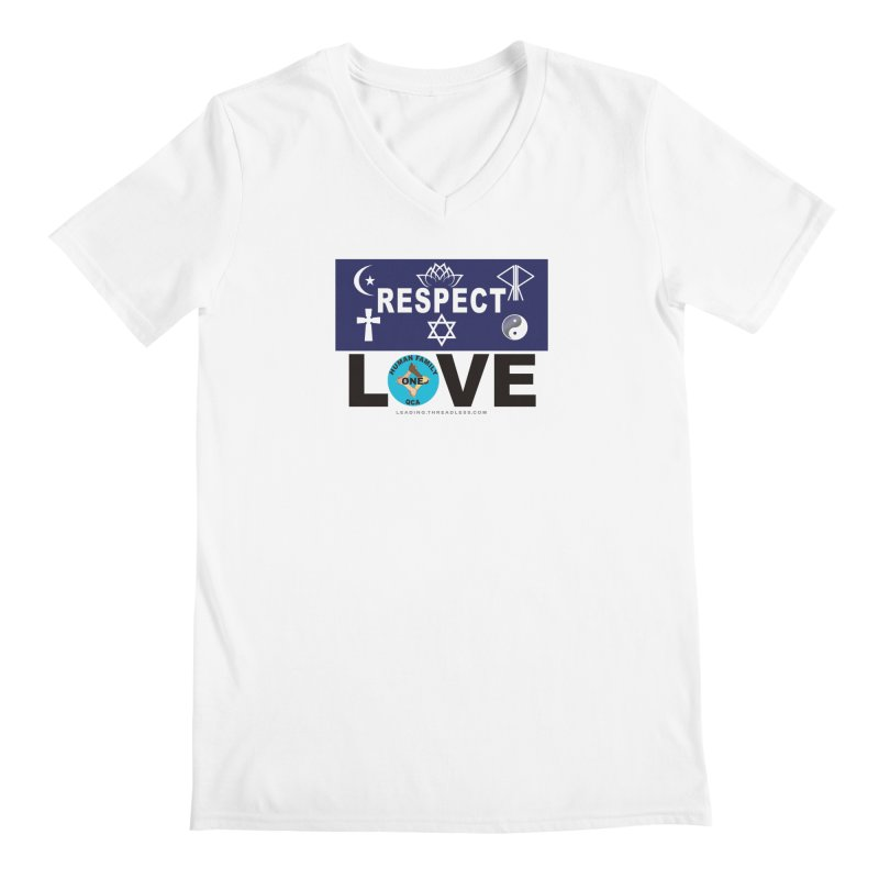 Respect And Love Men's V-Neck by Leading Artist Shop