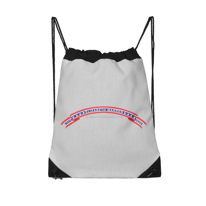Vote Elizabeth Warren 2020 Shirts Accessories Drawstring Bag Bag by Leading Artist Shop