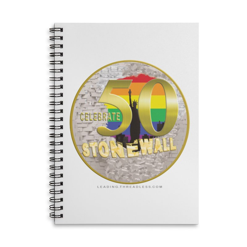Stonewall 1969 Accessories Lined Spiral Notebook by Leading Artist Shop