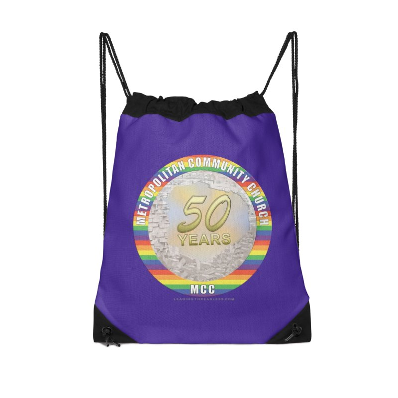Metropolitan Community Church Quad Cities - MCCQCA Accessories Drawstring Bag Bag by Leading Artist Shop