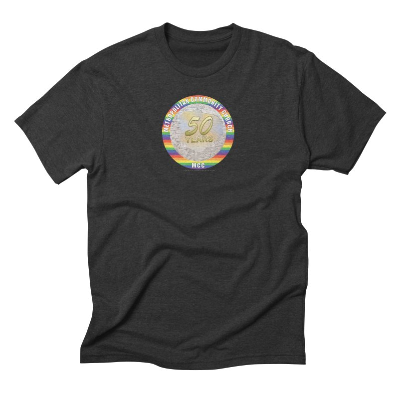Metropolitan Community Church Quad Cities - MCCQCA Men's Triblend T-Shirt by Leading Artist Shop