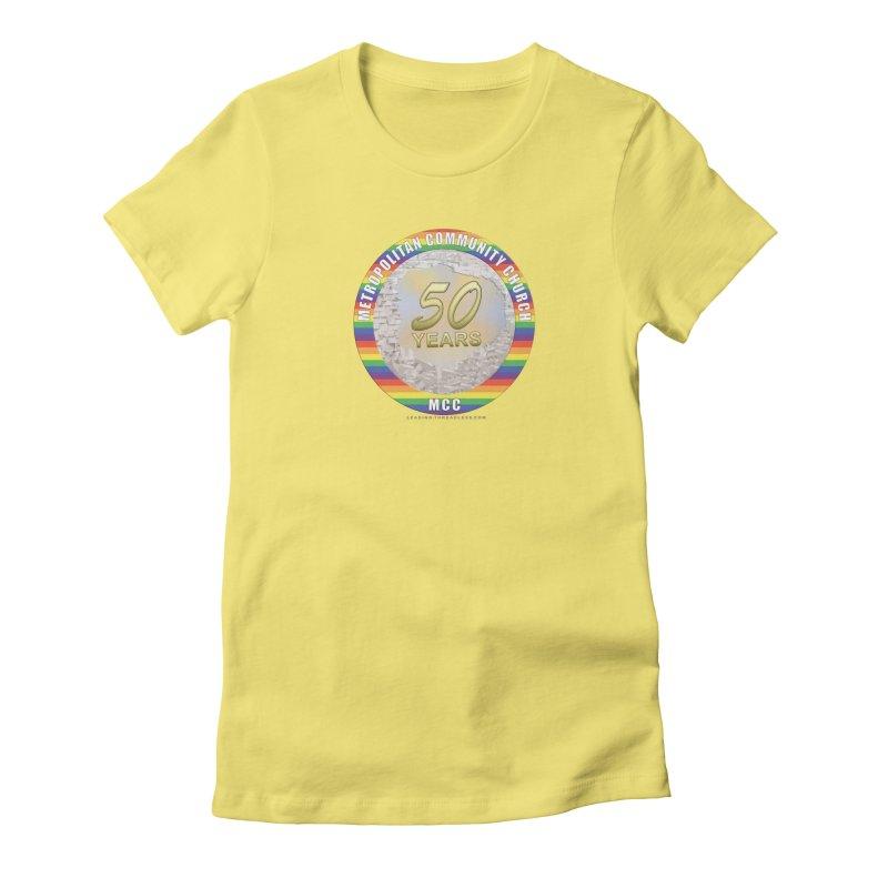 Metropolitan Community Church Quad Cities - MCCQCA Women's Fitted T-Shirt by Leading Artist Shop