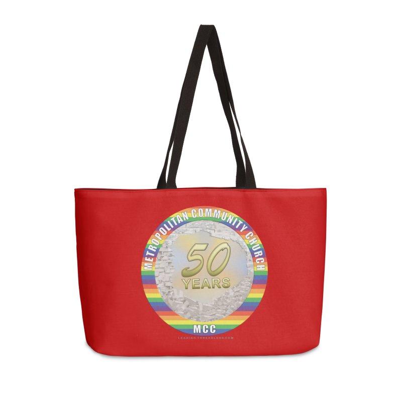 Metropolitan Community Church Quad Cities - MCCQCA Accessories Weekender Bag Bag by Leading Artist Shop