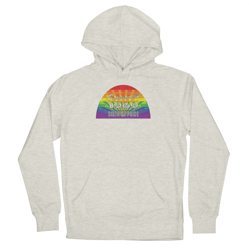 Stonewall 1969 Birth Of Pride Men's French Terry Pullover Hoody by Leading Artist Shop