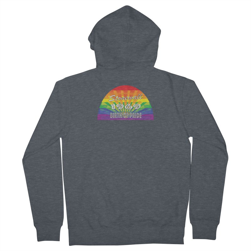 Stonewall 1969 Birth Of Pride Women's French Terry Zip-Up Hoody by Leading Artist Shop