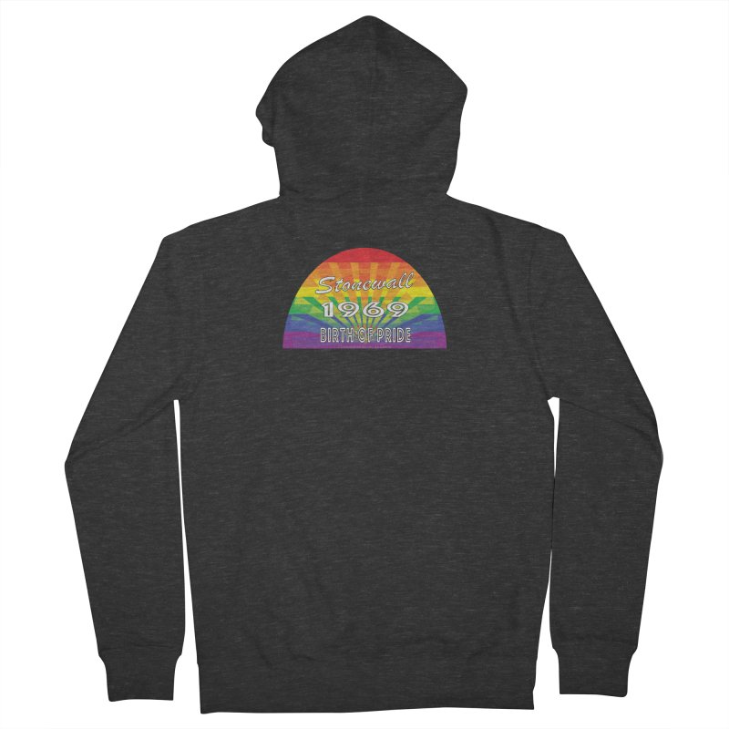 Stonewall 1969 Birth Of Pride Men's French Terry Zip-Up Hoody by Leading Artist Shop