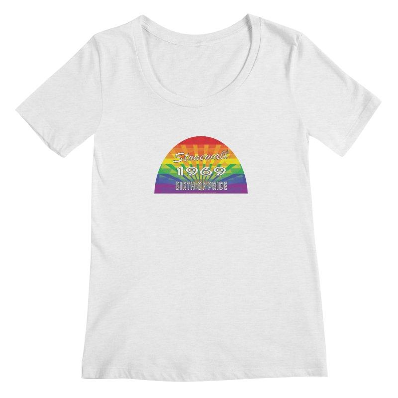 Stonewall 1969 Birth Of Pride Women's Regular Scoop Neck by Leading Artist Shop