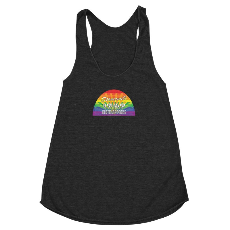 Stonewall 1969 Birth Of Pride Women's Racerback Triblend Tank by Leading Artist Shop
