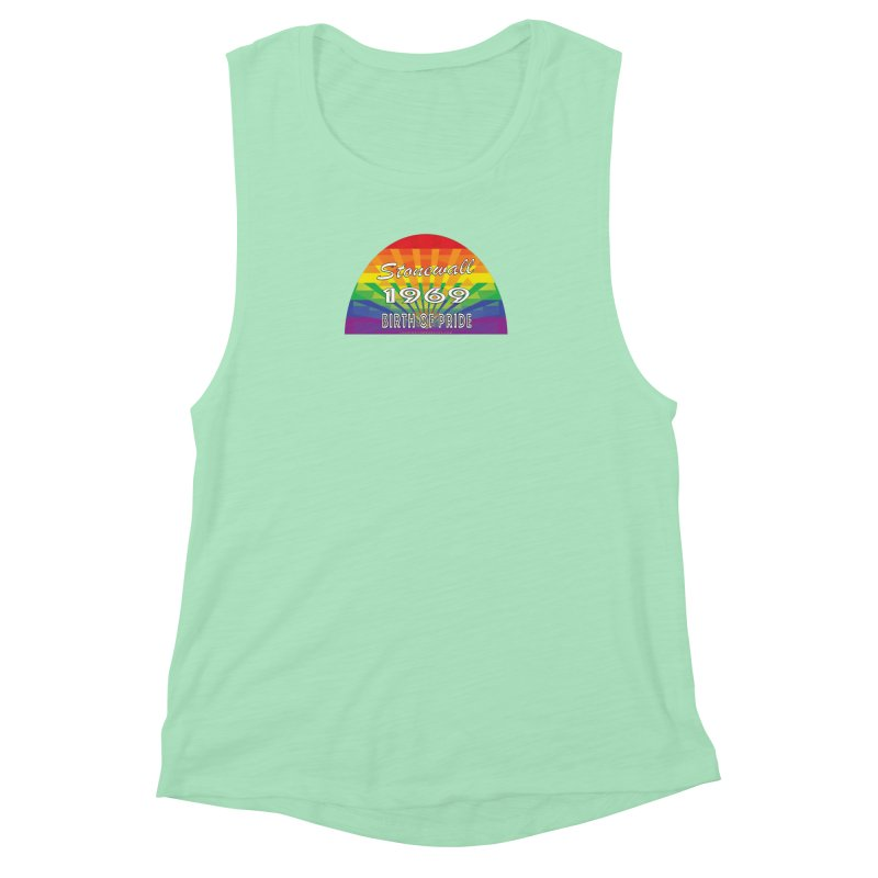 Stonewall 1969 Birth Of Pride Women's Muscle Tank by Leading Artist Shop