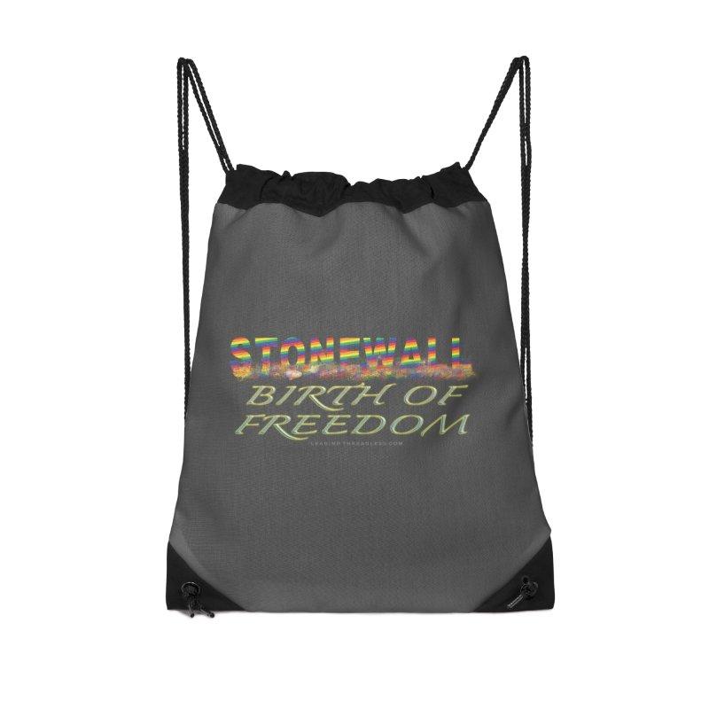 Stonewall Birth Of Freedom Accessories Drawstring Bag Bag by Leading Artist Shop
