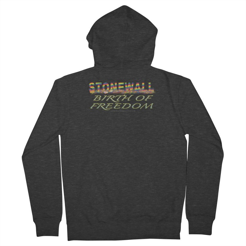 Stonewall Birth Of Freedom Men's French Terry Zip-Up Hoody by Leading Artist Shop