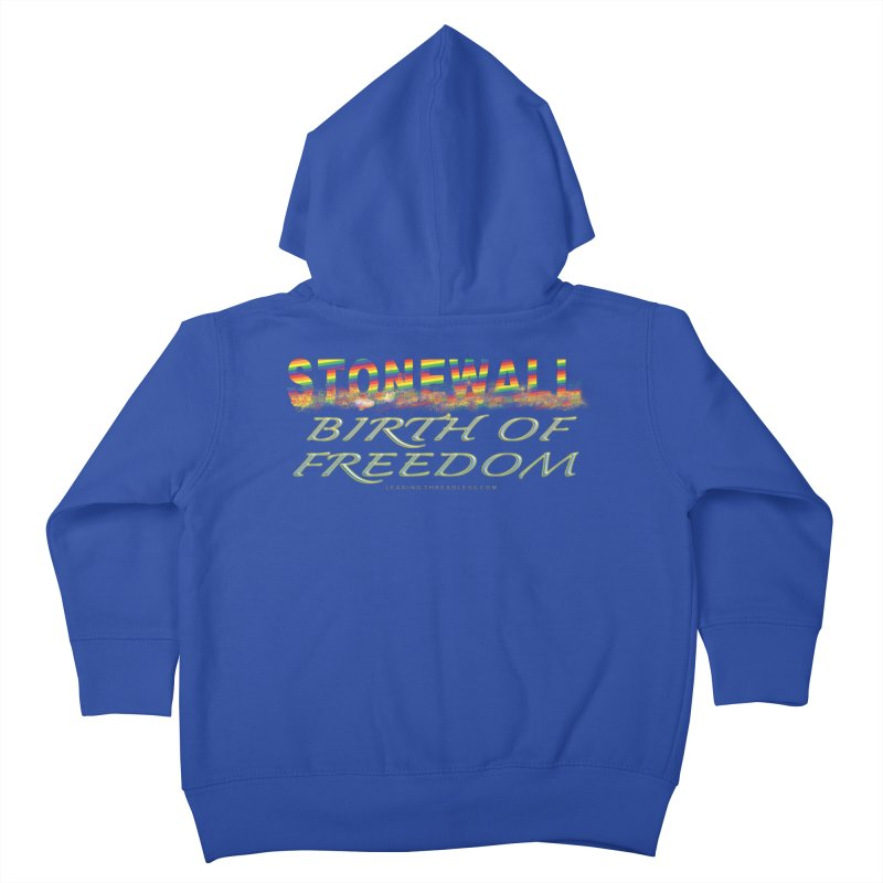 Stonewall Birth Of Freedom Kids Toddler Zip-Up Hoody by Leading Artist Shop