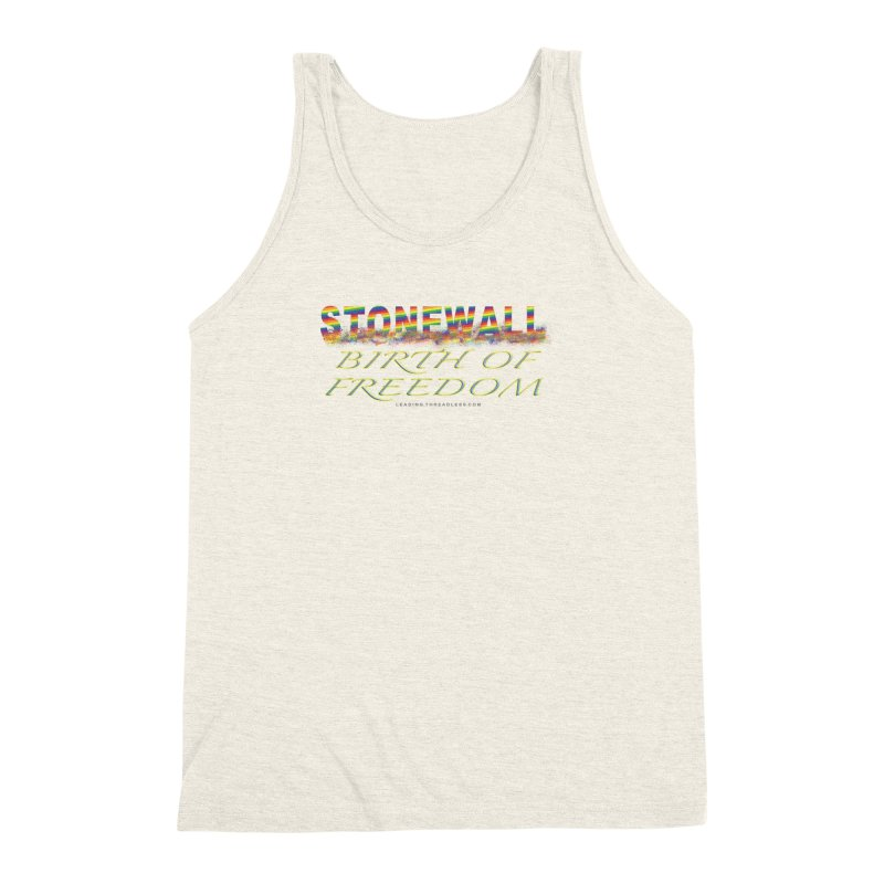Stonewall Birth Of Freedom Men's Triblend Tank by Leading Artist Shop