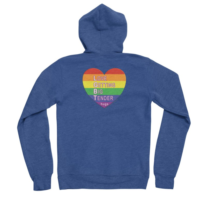 LGBT Shirts n More Men's Sponge Fleece Zip-Up Hoody by Leading Artist Shop