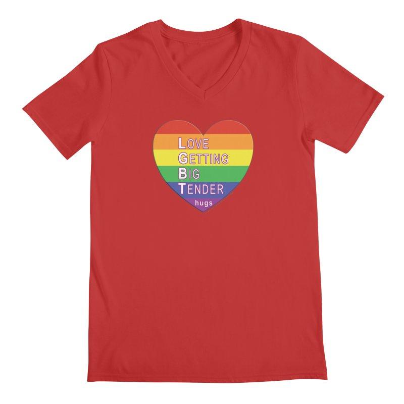 LGBT Shirts n More Men's Regular V-Neck by Leading Artist Shop