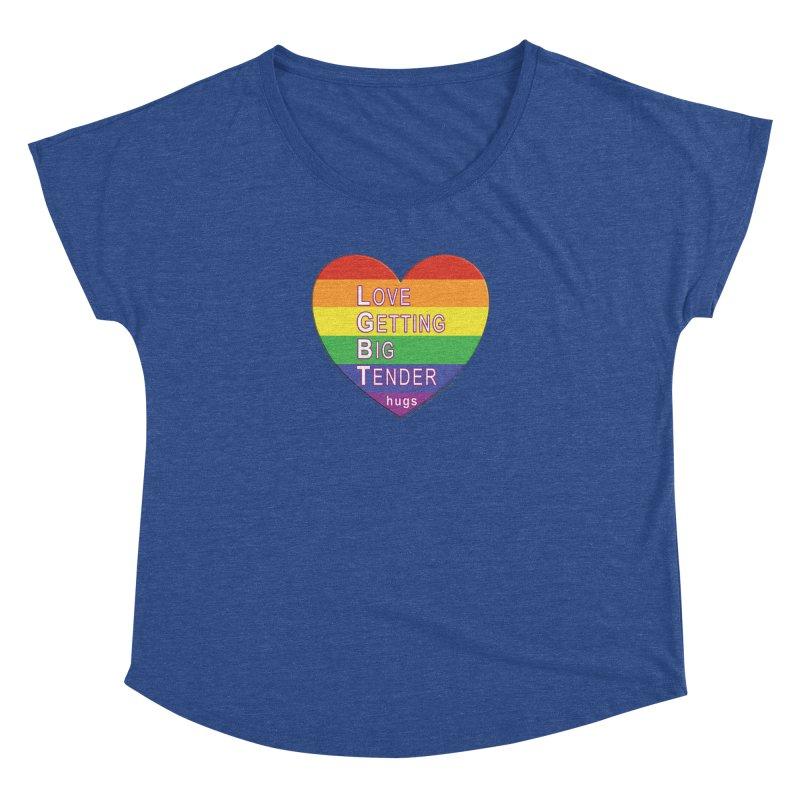 LGBT Shirts n More Women's Dolman Scoop Neck by Leading Artist Shop