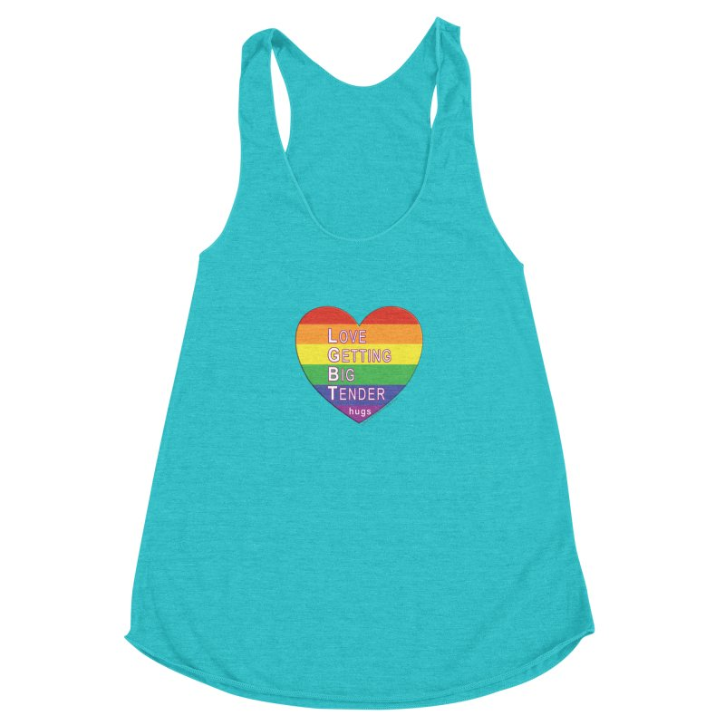 LGBT Shirts n More Women's Racerback Triblend Tank by Leading Artist Shop