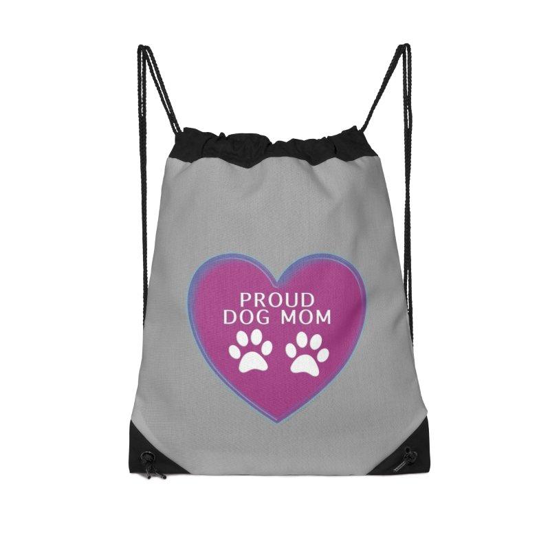 Dog Mama Shirts Accessories Drawstring Bag Bag by Leading Artist Shop