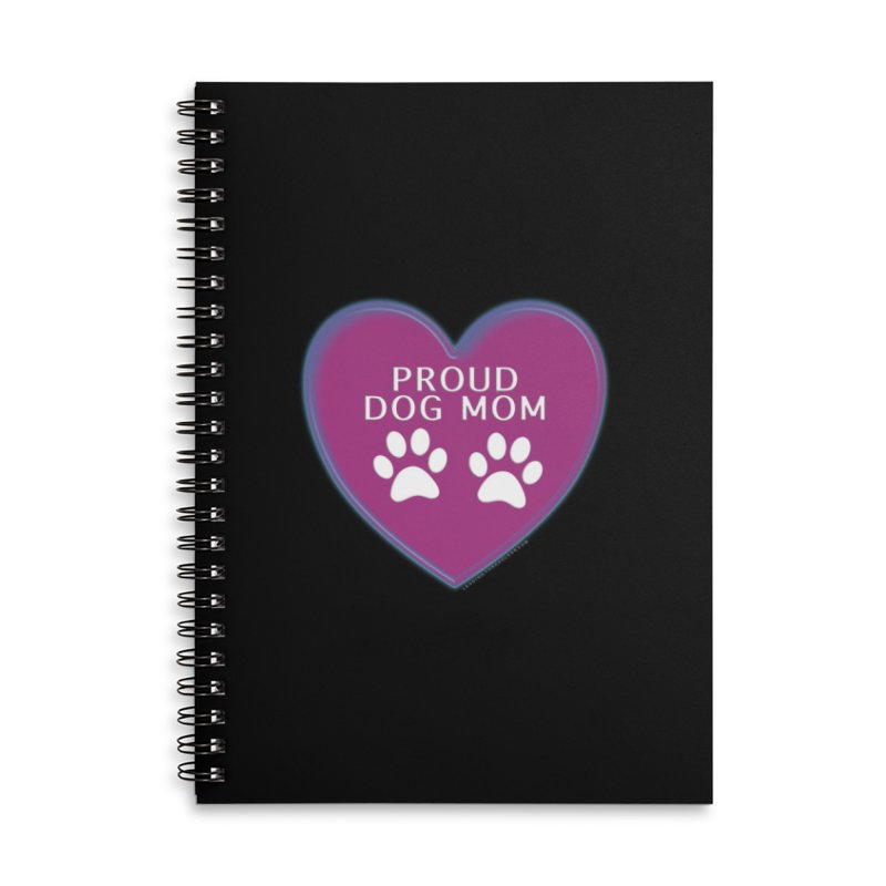 Dog Mama Shirts Accessories Lined Spiral Notebook by Leading Artist Shop
