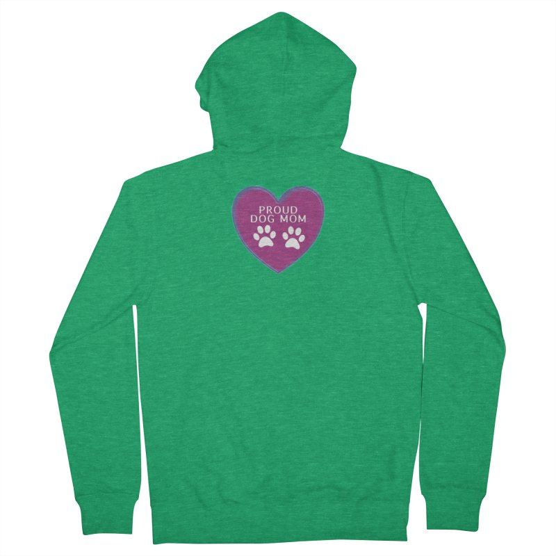 Dog Mama Shirts Women's French Terry Zip-Up Hoody by Leading Artist Shop