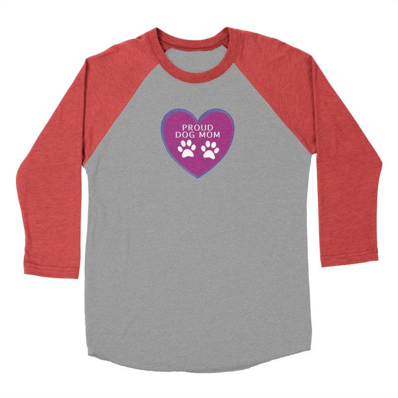 Dog Mama Shirts Women's Baseball Triblend Longsleeve T-Shirt by Leading Artist Shop