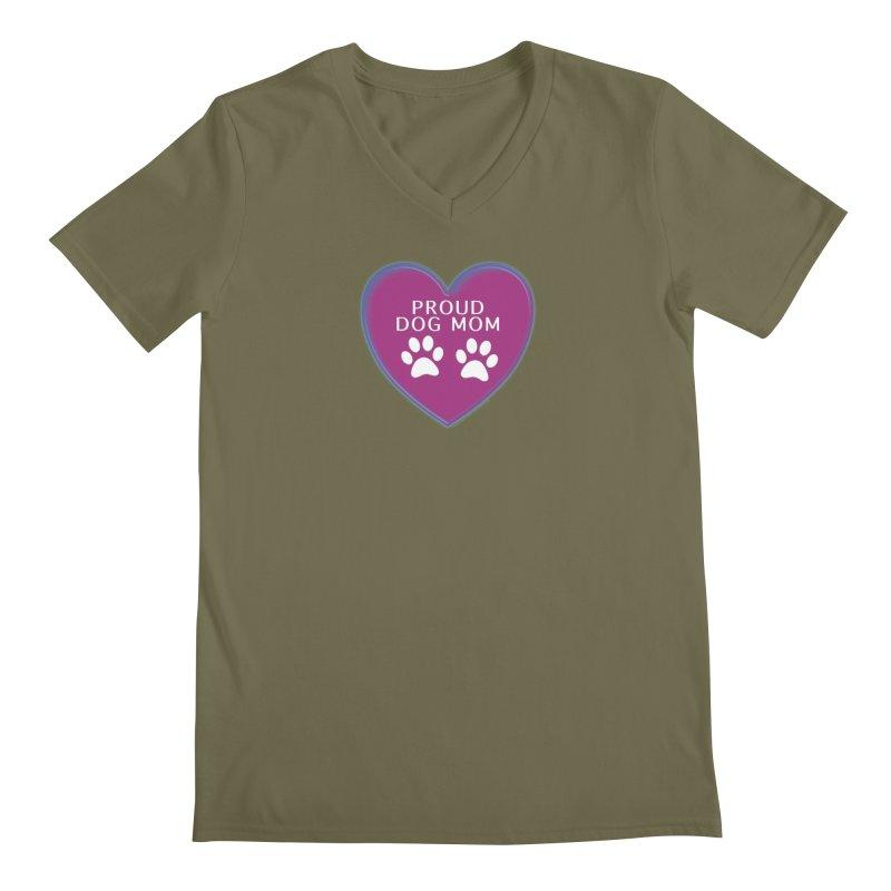 Dog Mama Shirts Men's Regular V-Neck by Leading Artist Shop