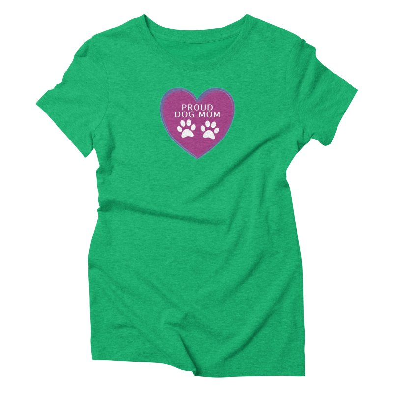 Dog Mama Shirts Women's Triblend T-Shirt by Leading Artist Shop