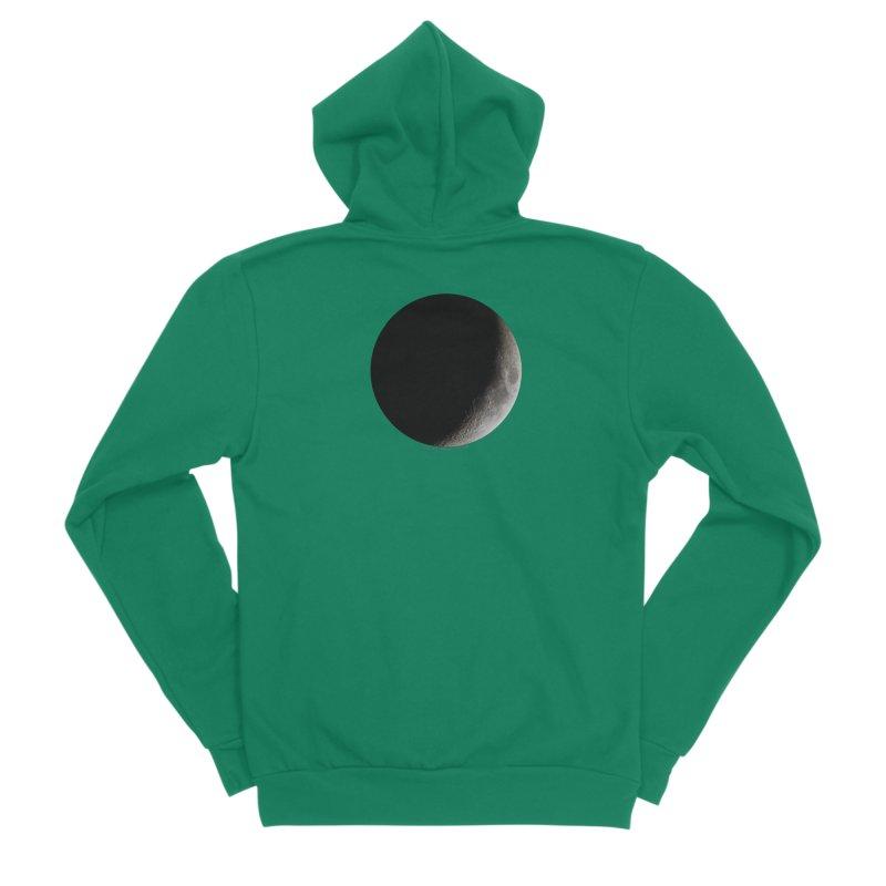 Moon By Jeff61B Men's Sponge Fleece Zip-Up Hoody by Leading Artist Shop