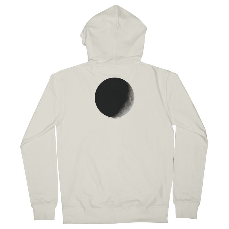 Moon By Jeff61B Men's French Terry Zip-Up Hoody by Leading Artist Shop