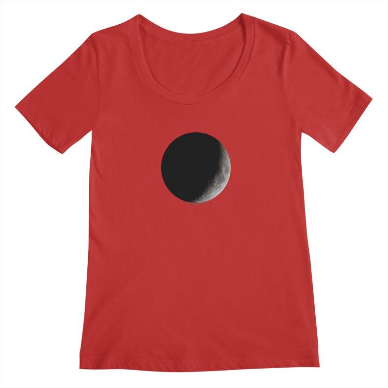 Moon By Jeff61B Women's Regular Scoop Neck by Leading Artist Shop