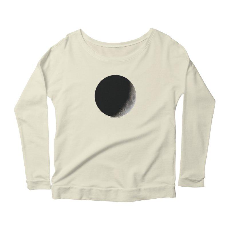 Moon By Jeff61B Women's Scoop Neck Longsleeve T-Shirt by Leading Artist Shop
