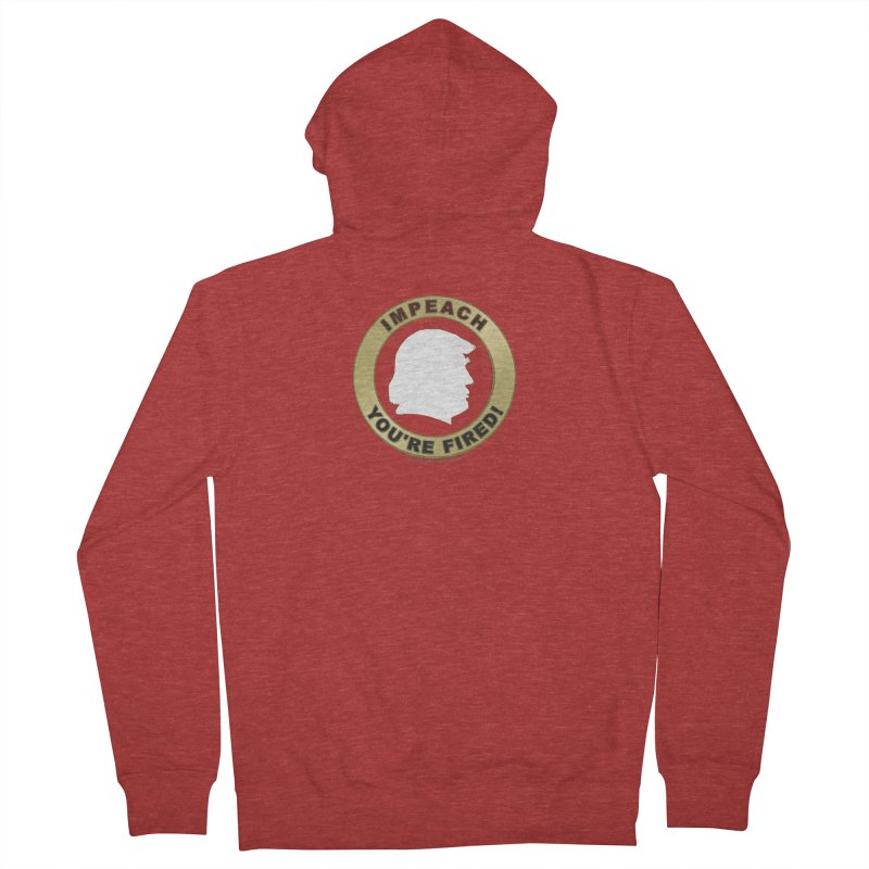 Impeach Shirts n More Women's French Terry Zip-Up Hoody by Leading Artist Shop