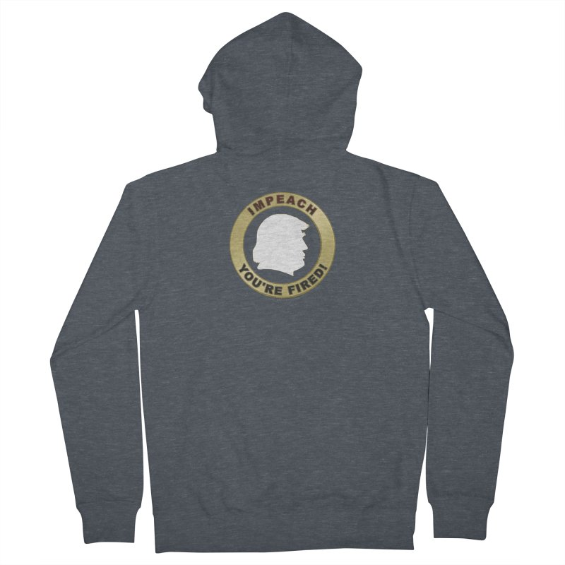 Impeach Shirts n More Men's French Terry Zip-Up Hoody by Leading Artist Shop