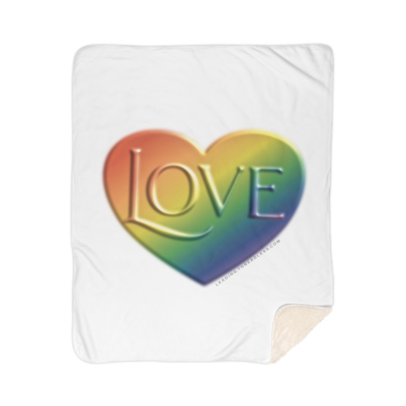 Love Shirts and More Home Sherpa Blanket Blanket by Leading Artist Shop