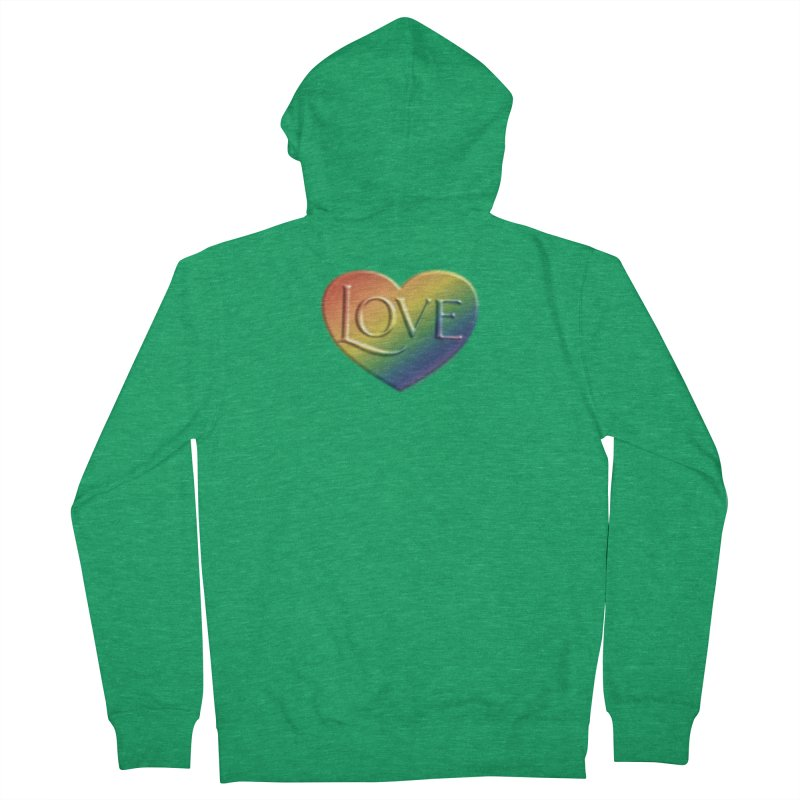 Love Shirts and More Men's French Terry Zip-Up Hoody by Leading Artist Shop