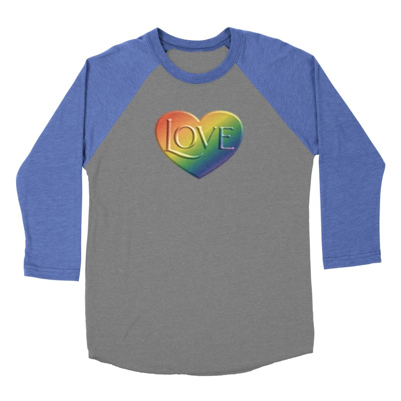 Love Shirts and More Men's Baseball Triblend Longsleeve T-Shirt by Leading Artist Shop