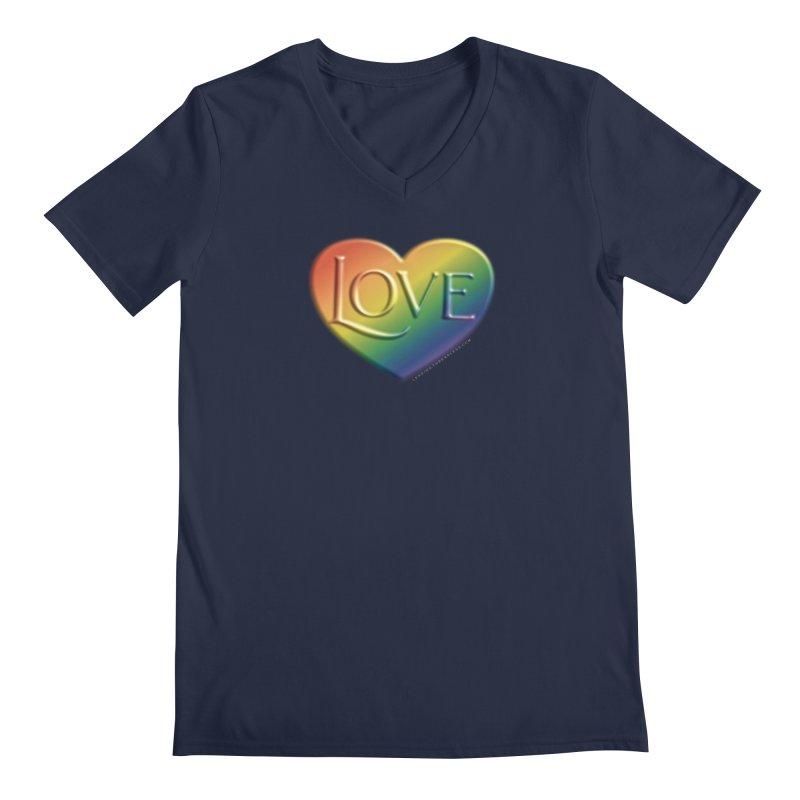 Love Shirts and More Men's Regular V-Neck by Leading Artist Shop