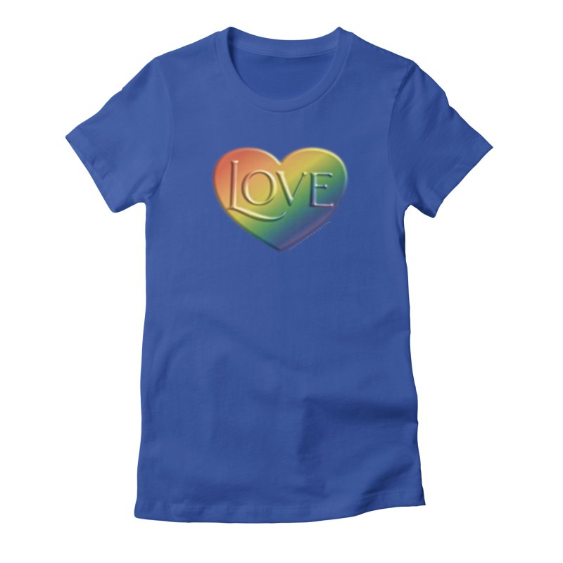 Love Shirts and More Women's Fitted T-Shirt by Leading Artist Shop