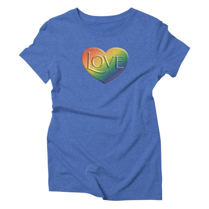 Love Shirts and More Women's Triblend T-Shirt by Leading Artist Shop