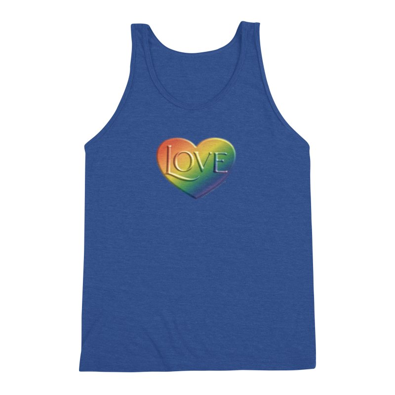 Love Shirts and More Men's Triblend Tank by Leading Artist Shop