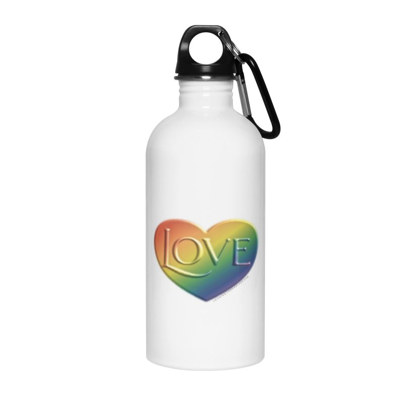 Love Shirts and More Accessories Water Bottle by Leading Artist Shop