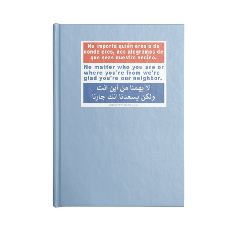No Matter Who You Are Or Where You're From Accessories Blank Journal Notebook by Leading Artist Shop