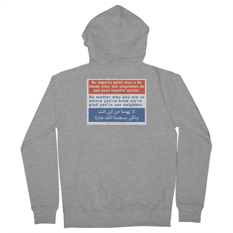 No Matter Who You Are Or Where You're From Men's French Terry Zip-Up Hoody by Leading Artist Shop