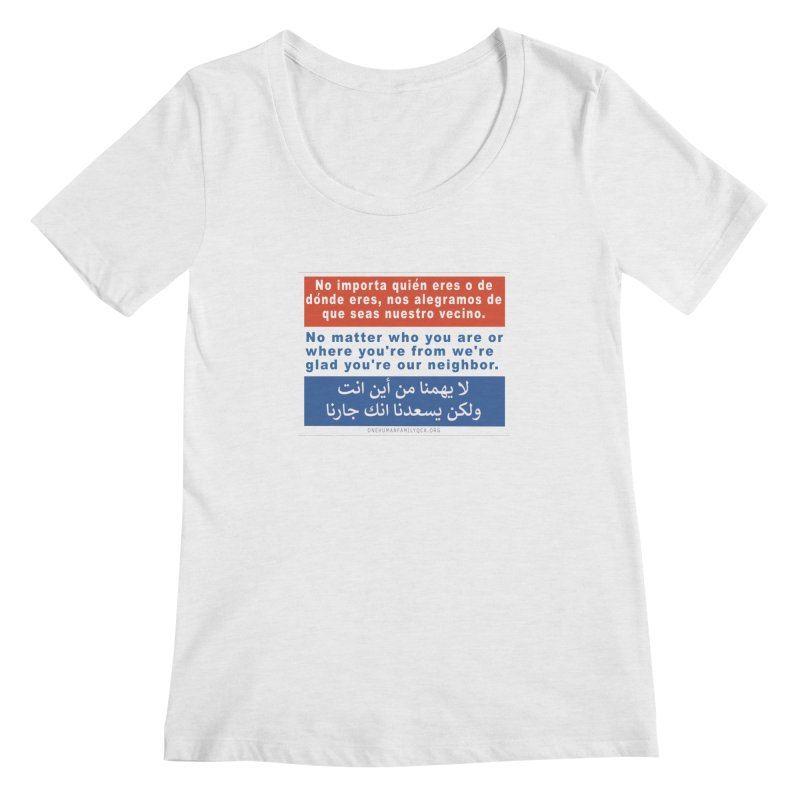 No Matter Who You Are Or Where You're From Women's Regular Scoop Neck by Leading Artist Shop